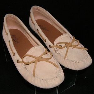 Lucky Brand Abelle 2 peach suede moc loafers 9M